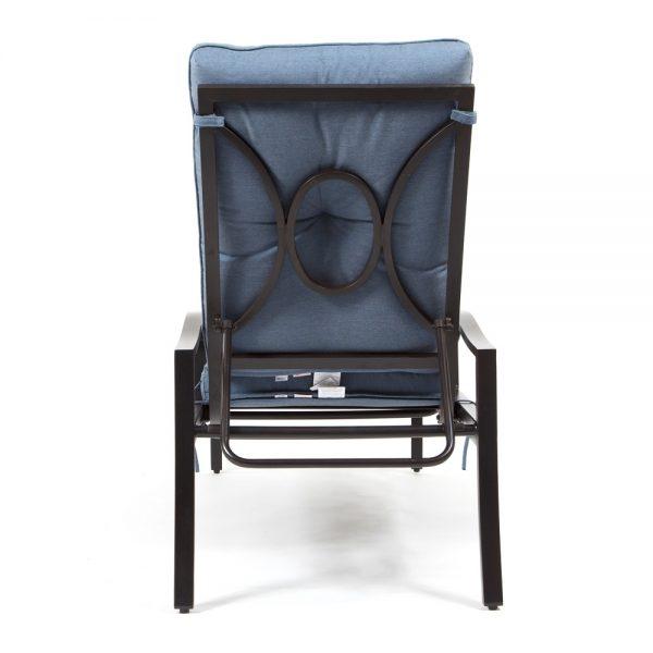 Bellevue aluminum chaise lounge back view