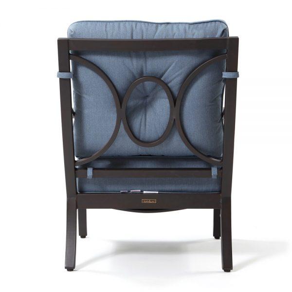 Sunvilla aluminum outdoor club chair back view