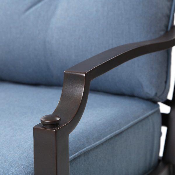 Sunvilla aluminum club chair with Copperhead powder coat finish