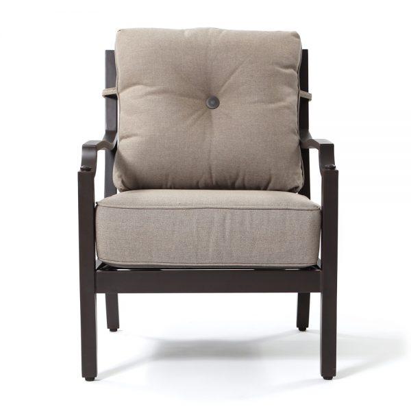 Sunvilla Bellevue aluminum club chair front view