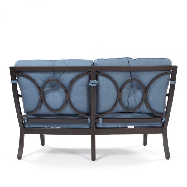 Aragon outdoor love seat back view