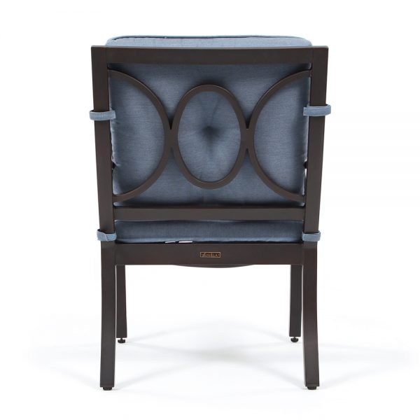 Bellevue outdoor dining chair back view