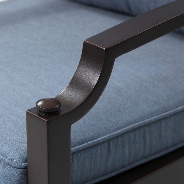 Sunvilla aluminum dining chair with Copperhead powder coat finish
