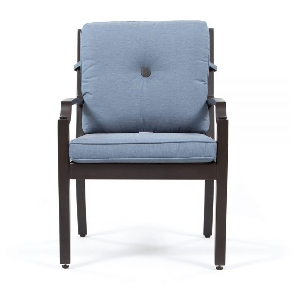 Bellevue patio dining chair front view