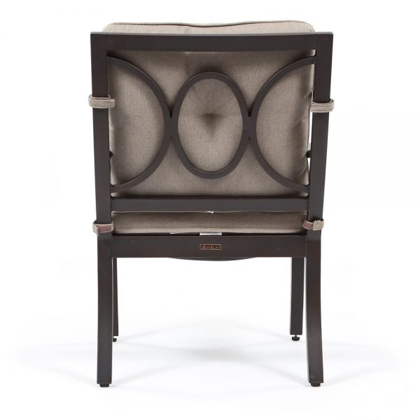 Sunvilla Bellevue aluminum dining chair back view
