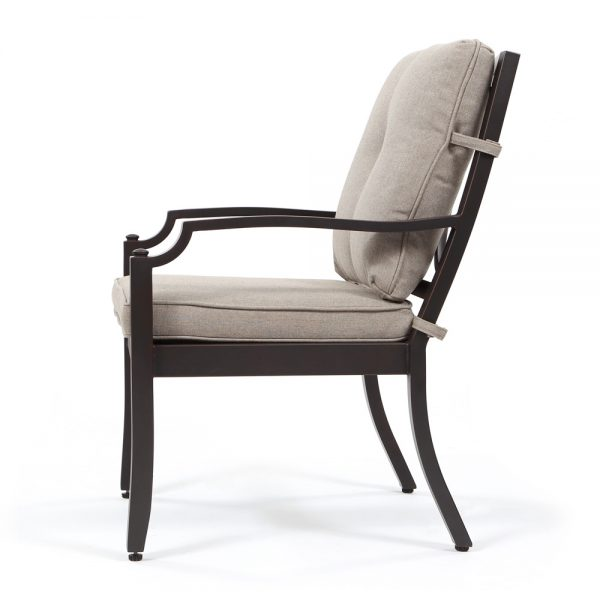 Bellevue patio dining chair side view