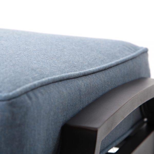 Sunvilla Bellevue ottoman with Sunvilla Spectrum Denim fabric