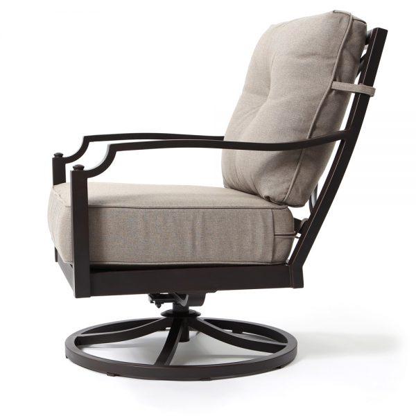 Bellevue outdoor swivel rocker lounge chair side view