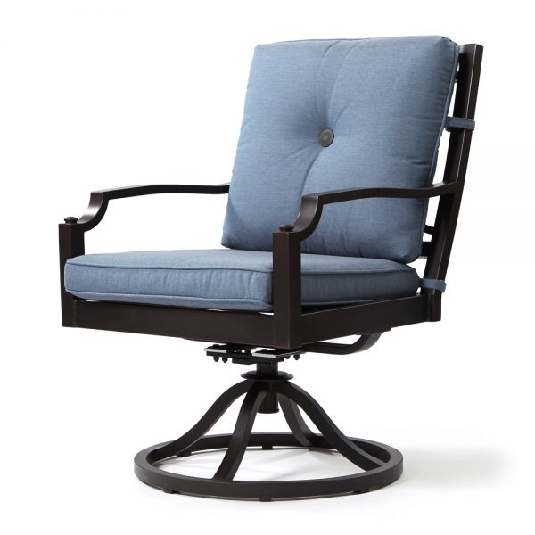 Bellevue swivel rocker dining chair - Spectrum Denim