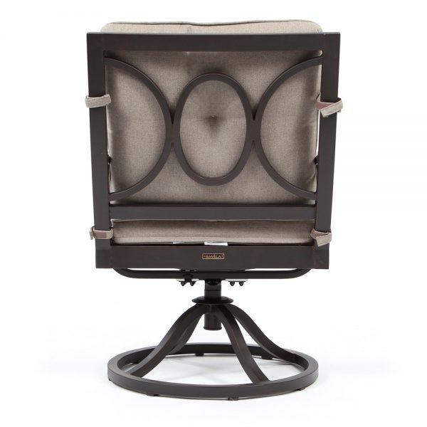 Bellevue patio swivel rocker dining chair