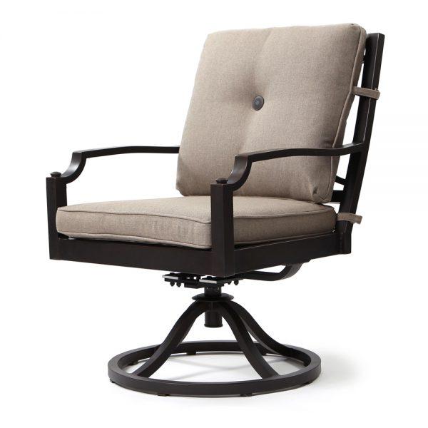 Bellevue swivel rocker dining chair - Sailcloth Shadow