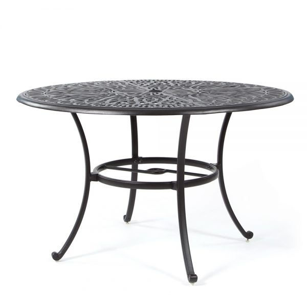 """Hanamint Biscayne 48"""" round cast aluminum dining table"""