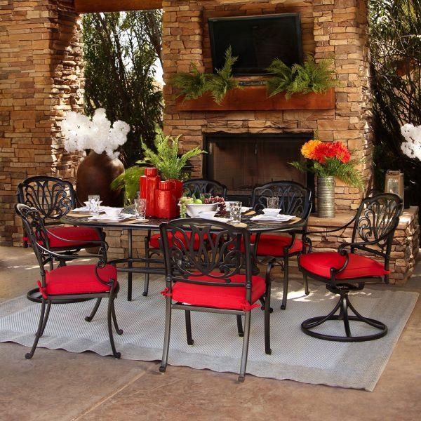 Hanamint Biscayne cast aluminum dining furniture