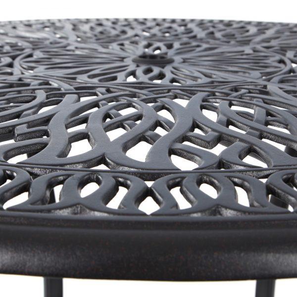 Hanamint Biscayne cast aluminum bar table top view
