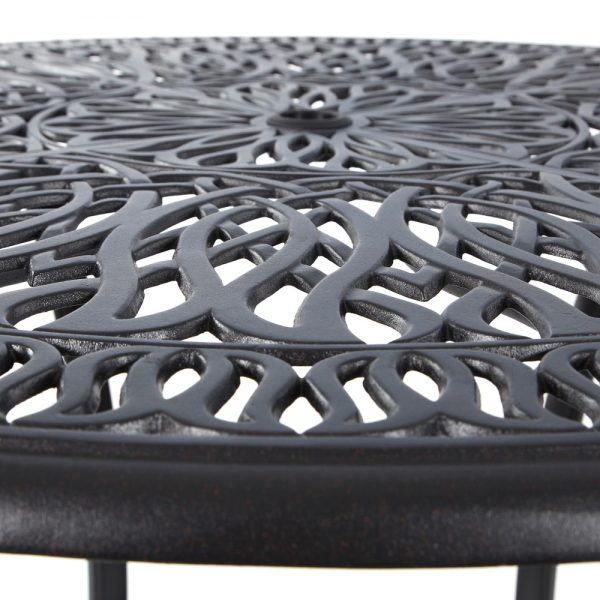 Hanamint Biscayne cast aluminum counter table top view