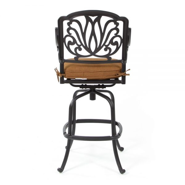 Biscayne patio swivel bar stool back view