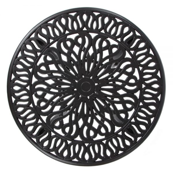 Biscayne cast aluminum table top view
