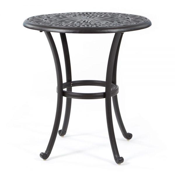 "Biscayne 26"" round cast aluminum bistro table"