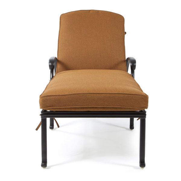Hanamint Biscayne cast aluminum chaise lounge front view