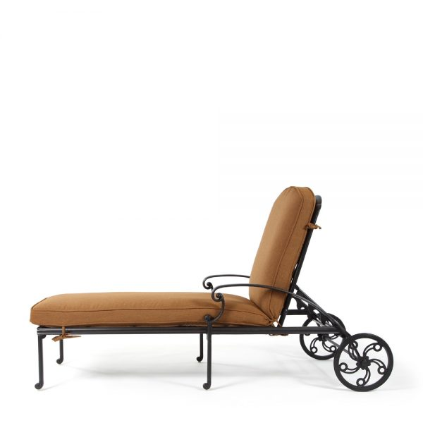 Biscayne outdoor chaise lounge side view