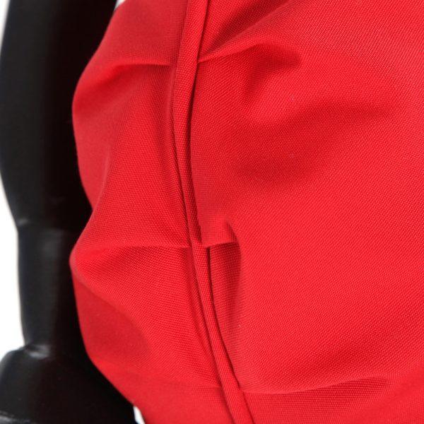 Hanamint swivel club chair with Sunbrella Jockey Red fabric