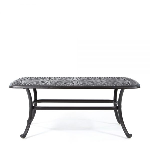 Hanamint cast aluminum coffee table front view