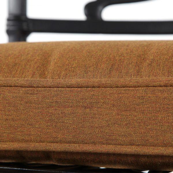 Hanamint swivel counter stool with Sunbrella Canvas Teak fabric