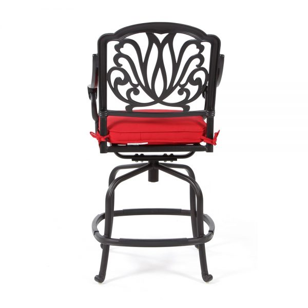 Biscayne outdoor counter stool back view