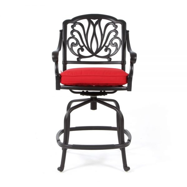 Hanamint Biscayne swivel counter stool front view