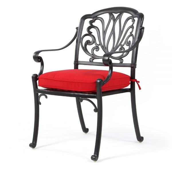 Biscayne dining chair with Canvas Jockey Red fabric