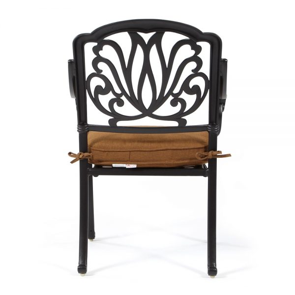 Hanamint Biscayne patio dining chair back view