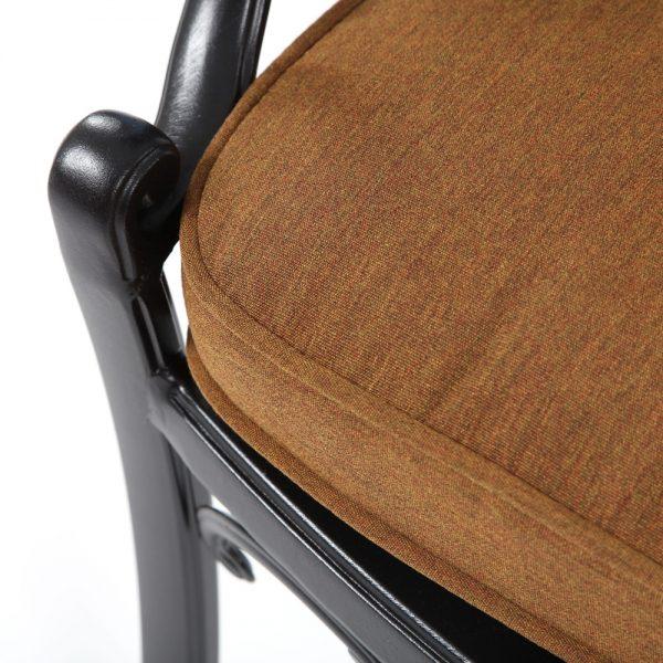 Hanamint dining chair with Sunbrella Canvas Teak fabric