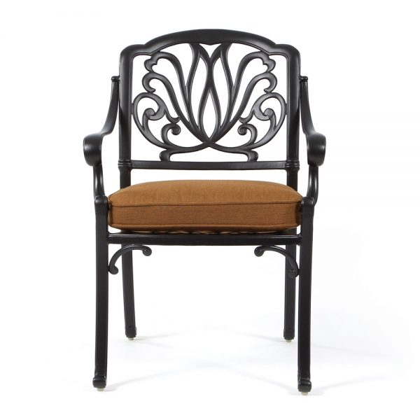 Biscayne patio dining chair front view