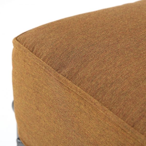 Hanamint ottoman with Sunbrella Canvas Teak fabric