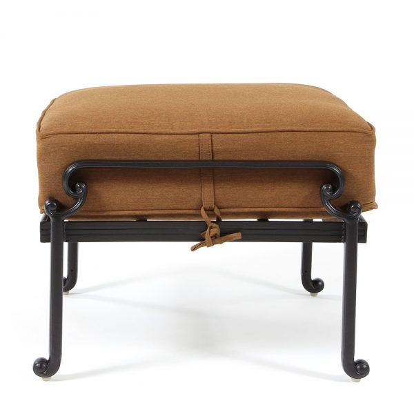 Biscayne outdoor ottoman side view