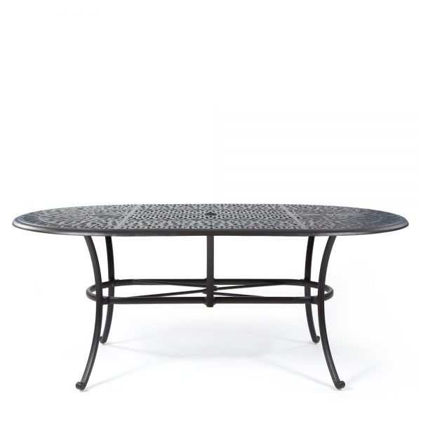 Hanamint Biscayne cast aluminum dining table front view