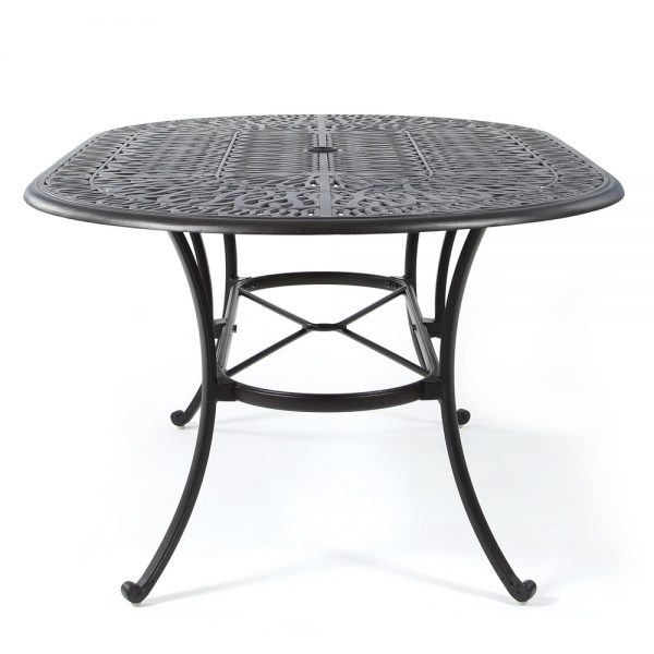 Biscayne outdoor oval dining table side view