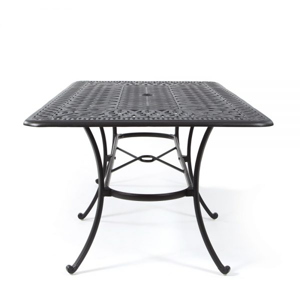 Biscayne cast aluminum rectangle dining table