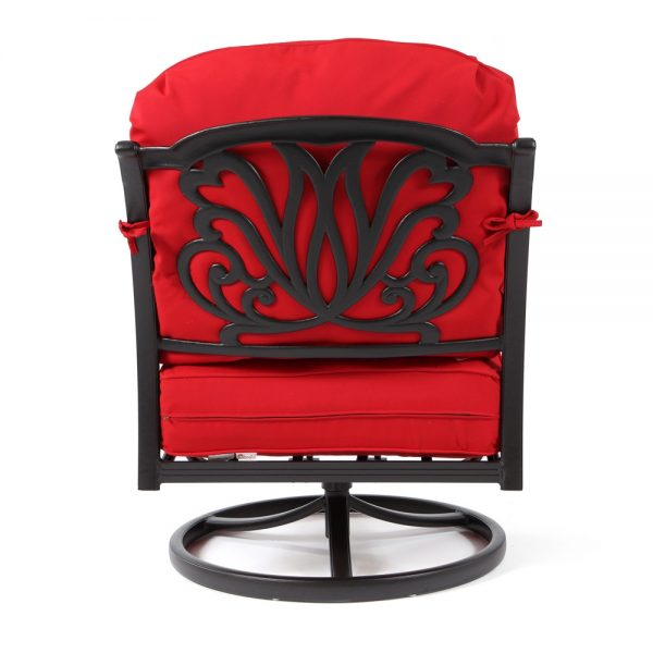 Biscayne swivel lounge chair back view