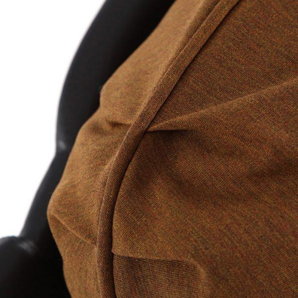Hanamint swivel club chair with Sunbrella Canvas Teak fabric