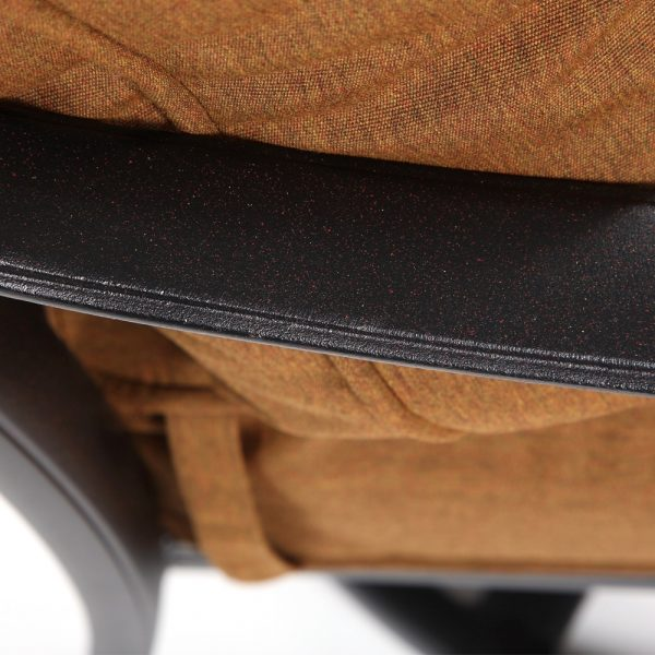 Hanamint Biscayne cast aluminum swivel club chair with a Terra Mist finish