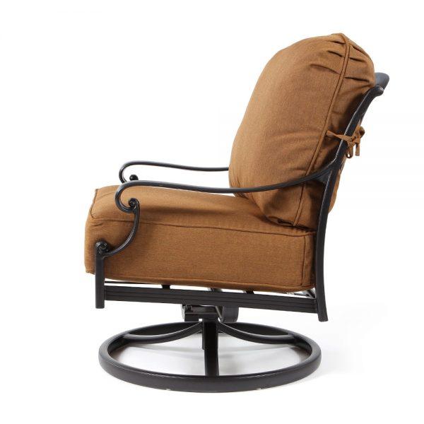 Hanamint Biscayne patio swivel club chair side view