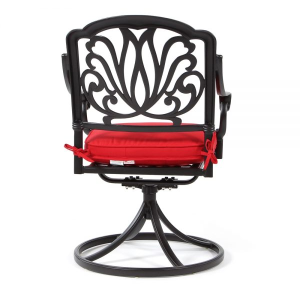 Biscayne patio swivel dining chair back view