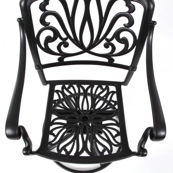 Hanamint Biscayne swivel counter stool without cushion