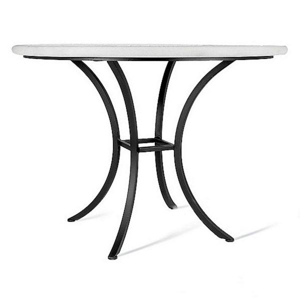KNF aluminum or iron four-leg bistro table base