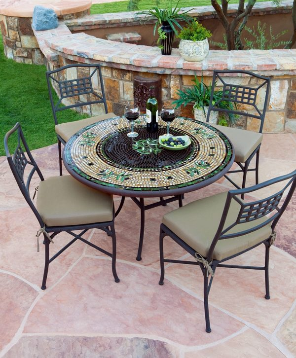 KNF - Neille Olson outdoor Black Olives mosaics table
