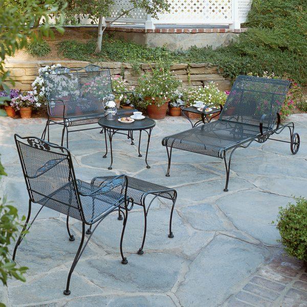 Wrought iron Woodard patio furniture