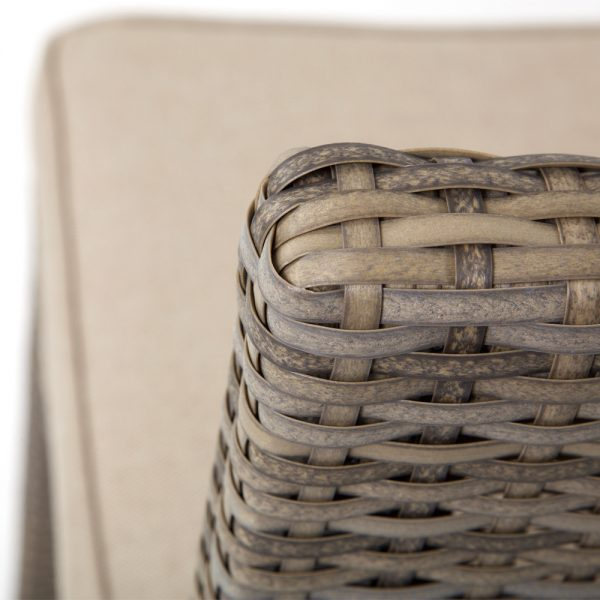 NCI Cabo wicker bar stool with a Willow weave