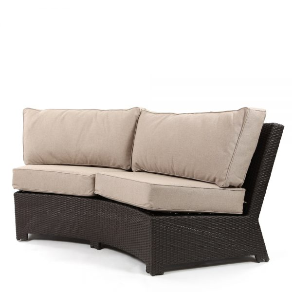 Cabo contour sofa with a Jacobean weave and Blend Sand cushions