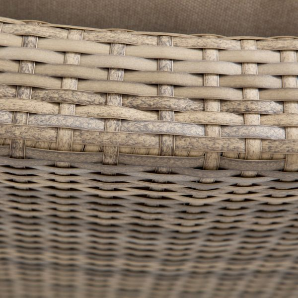 Cabo wicker contour sofa with a Willow weave